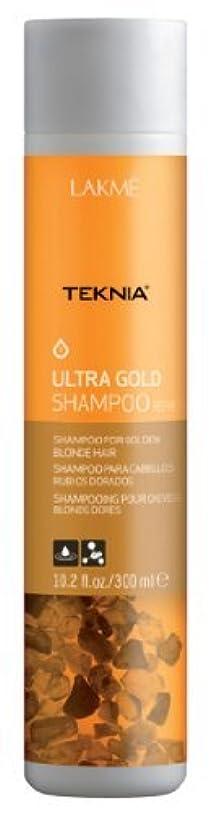 透けて見える時計回りオゾンLakme Teknia - Ultra Gold Shampoo - 300ml / 10.2oz by Lakme Cosmetics [並行輸入品]
