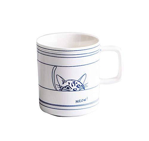 NPSUYK Keramische Kaffeetasse Kaffeebecher Katze Hund Porzellan Teetassen Reisebüro Frühstück Milch Wasser Espresso Tassen Personalisiertes Geschenk -B