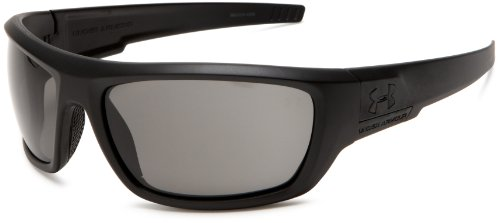 Under Armour Prevail Sunglasses, Satin Black Frame/Gray Lens, One Size
