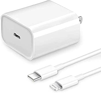 [Apple MFi Certified] iPhone Fast Charger Veetone 20W PD Type C Power Wall Charger Travel Plug with 6FT USB C to Lightning Quick Charge Sync Cable Compatible with iPhone 12/11/XS/XR/X 8/SE 2020 iPad