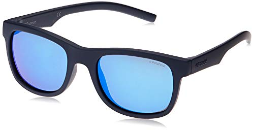 Polaroid PLD 8020 S JY CIW 46 Gafas de sol, Azul (Rubber Blue Grey), Unisex Niños