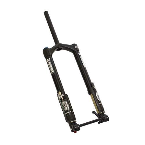 ZNND Vorderseite Suspension Gabeln 26 Zoll Fett Fahrrad DNM USD-6-Fett Luftfederung Scheibe Bremsen Schwarz (größe : 26inch)