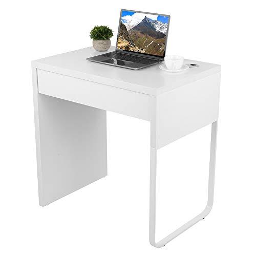 GOTOTOP - Escritorio para ordenador con cajones, mesa de escritorio para ordenador portátil, de madera, para uso doméstico, para oficina en salón, 73 x 49,7 x 75 cm