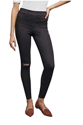 Spanx Damen Distressed Skinny Jean Leggins Baselayer-Hose, Vintage Black, M