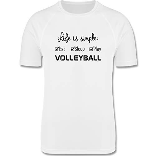 Shirtracer Volleyball - Life is Simple Volleyball - S - Weiß - Volleyball Herren - F350 - Herren Laufshirt