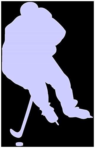 Samunshi® Autoaufkleber Eishockeyspieler Aufkleber in 8 Größen und 25 Farben (9,5x15cm Flieder)
