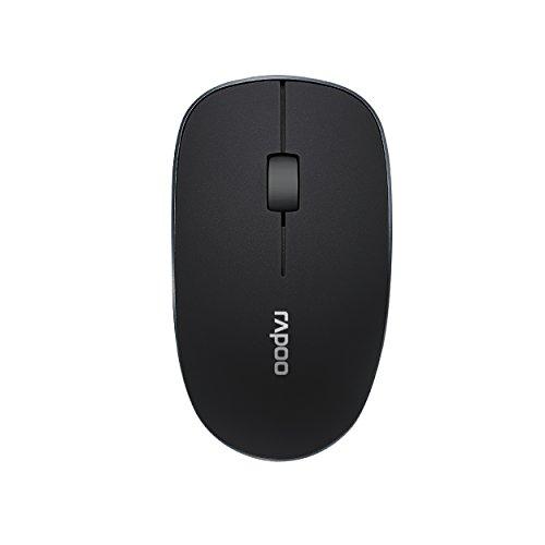 Rapoo 3510 kabellose optische Maus mit 2,4 GHz Wireless-Verbindung, 1000 DPI Sensor, klassisches Design, schwarz