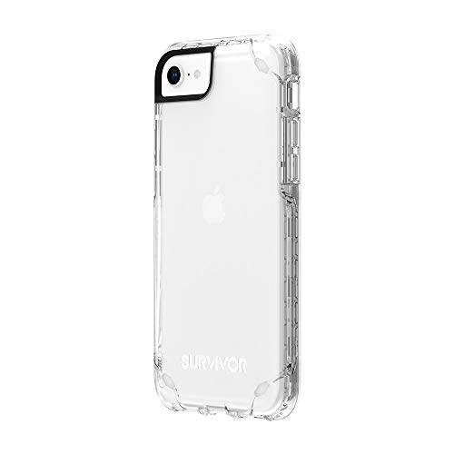 Griffin Survivor Strong Case GIP-043-CLR - Cover per Apple iPhone SE (2020) / 8/7 / 6S / 6 (trasparente) [standard militari I estremamente robusto, ultra sottile, compatibile con Qi