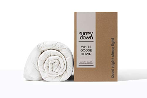 The Surrey Down Co. - Couette 1 Personne en Duvet d'oie Blanche - 4,5 TOG