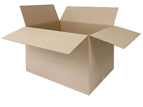 2 Faltkartons 800 x 600 x 600 mm | großer Versandkarton geeignet für DHL | variable Höhe | 2-wellige BC-Welle | 1-25 Kartons wählbar