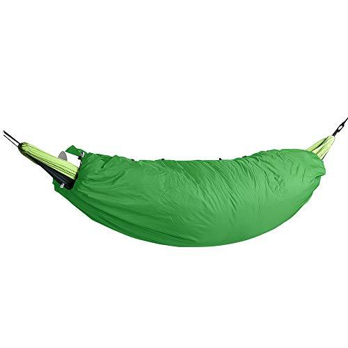 Outdoor Autumn Winter Cold Hammock Warm Cover Single Insulated Sleeping Bag Warm Cotton Hammock Fruit Green