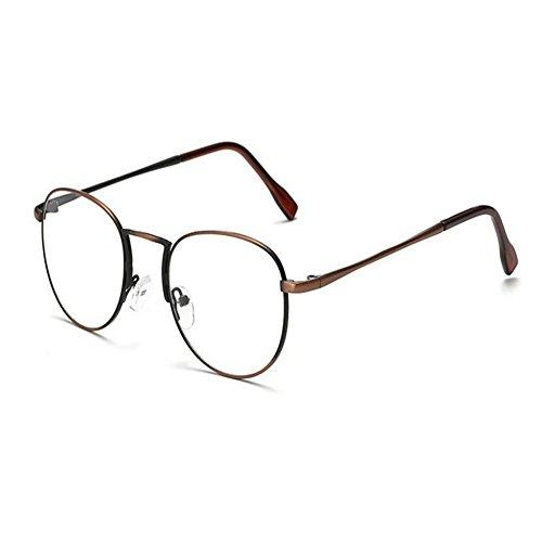 Aiweijia Aiweijia Männer Frauen Vintage Runde Rahmen Computer Gläser Anti UV Blaulicht Filter Klare Linse Brillen
