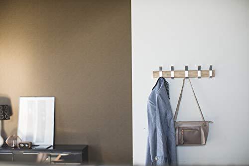 山崎実業ウォールコートハンガーリンナチュラル約W50XD6.5XH10cm時計壁掛け掛け時計ウォールクロック4116