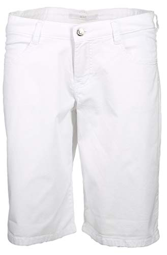 MAC Jeans Damen Shorty Summer clean Shorts, Weiß (White 010), W40(Herstellergröße: 40/07)