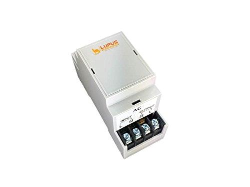 DIN2 Hutschienenrelais mit Strommesser für die XT Smarthome Alarmanlagen, nicht kompatibel mit der XT1, automatisiertes Ein-/Ausschalten von 230V Stromkreisen, Installation im Schaltkasten, externe Antenne,   max. 3680W 16A