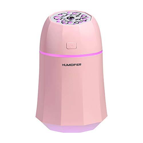 USB-mini-luchtreiniger Silent in de auto luchtreiniger Lichter, Lüfter roze