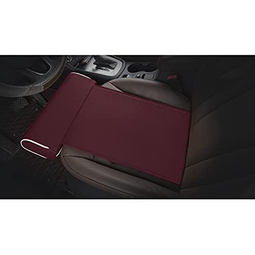 MONALA Almohada de apoyo para patas de coche, cojín de cuero para asiento de coche, adecuado para descanso, postura cómoda (vino tinto)