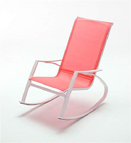 Grupo Maruccia - Silla mecedora con reposabrazos, silla relax para casa y jardín, silla mecedora de colores, rojo