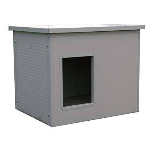 Caseta Aislada para perros medianos con techo horizontal
