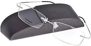 Armação de Óculos para Grau Titânio Flexível Retangular Masculina Feminina Lentes Transparentes