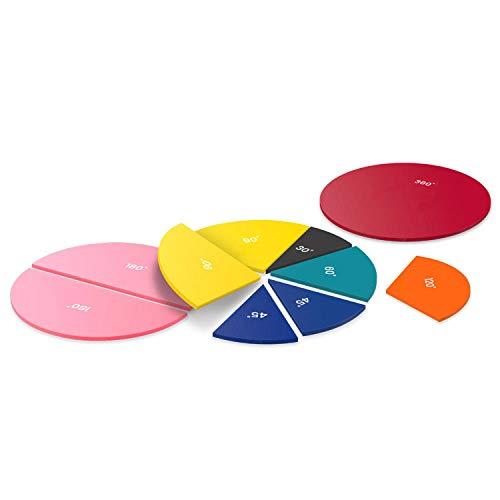 Set individual de círculos con ángulos Rainbow de los colores del arcoíris de Learning Resources
