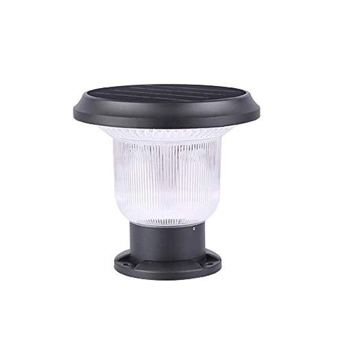 J-Love Lampione Giardino Luci solari 4.5W LED Porta Parete Villa Cortile Esterno Lampada a Colonna Garage Negozio Parco Retro Lanterna a Colonna Esterna con Illuminazione IP54 Impermeabile