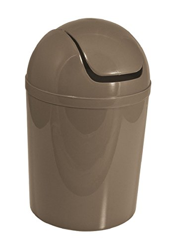Carpemodo Kosmetikeimer mit Schwingdeckel 5,5 l Volumen Braun