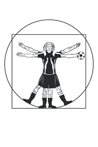 Joueur de football - Ballon de football de l\'Homme de Vinci Vitruve: Un carnet de notes de format journal (6 x 9 pouces), un agenda et un planificateur avec 120 pages quadrillées.