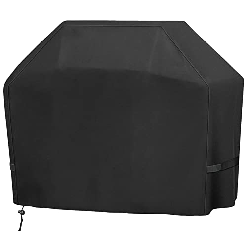 Grill Cover, BBQ Cover 58 Inch, 420D Double Layer Fabric, Waterproof, UV and Fade Resistant Gas Grill Cover, Fits Weber Char-Broil Nexgrill Brinkmann and More
