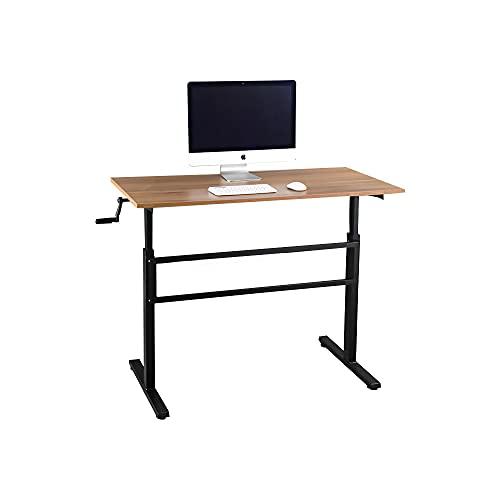 WENHAUS höhenverstellbarer Schreibtisch/Computertisch, manuell höhenverstellbares Tischgestell, passt für alle gängigen Tischplatten (Walnuss)