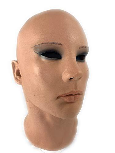 Greyland Realistische Frauenmaske aus weichem Schaumlatex incl. Halsteil. Eine Female Mask Nicht nur für Männer
