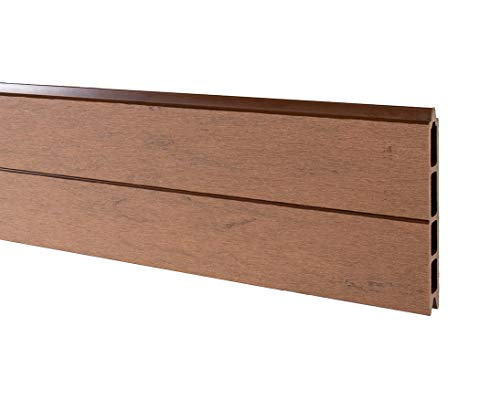 bambus-discount.com Sichtschutzzaun WPC System Set Mandel, 178x183cm - Sichtschutz, Sichtschutz Elemente, Sichtschutzwand, Windschutz, Sichtschutzzäune