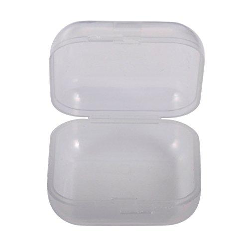Souarts Boîte de Rangement Boîtes à Bijoux en Plastique Rectangle Transparent 1PC