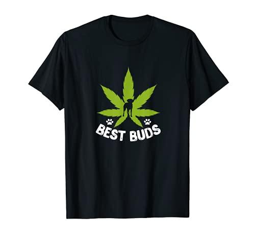 Maceta de marihuana Best Buds Weed Stoner perro amante Camiseta