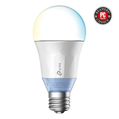 TP-Link LB120 Wi-Fi SmartLight 10W E27 to B22 Base LED Bulb (Tunable White) Compatible with Android,...