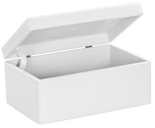 LAUBLUST Große Holzkiste mit Deckel - 30x20x14cm, Weiß, FSC® | Allzweck-Kiste aus Holz - Aufbewahrungskiste | Geschenk-Verpackung | Deko-Kasten zum Basteln | Spielzeug-Truhe | Erinnerungsbox