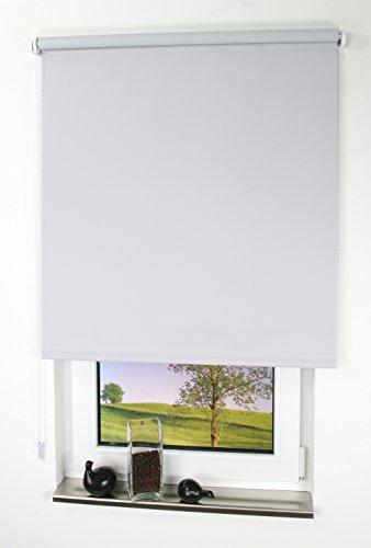 Liedeco® Rollo, Kettenzug-Rollo/Verdunkelnd, Abdunkelnd, Blickdicht / 202 x 180 (Breite x Höhe) / Farbe: hellgrau/Variable Montage