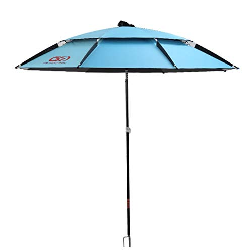 Parasol/Vissen Umbrella 2,2/2,4 Meter Thicken zwart rubber Fishing Umbrella Ultralight Universal zonnescherm Sunscreen uitklapbare regen Fishing Umbrella Parasolstandaards