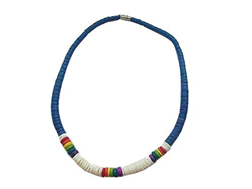 Necklace Shell Chain with Elastic Band Beach Boy Surf Surfer Beach Beach Sea Blue