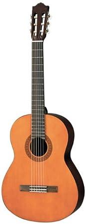 Yamaha C40 Guitarra clásica de cuerda de nailon de tamaño completo, color marrón, completo