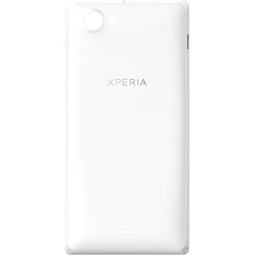 Original Akkudeckel für Sony Xperia J ST26i - white / weiß (Akkufachdeckel, Batterieabdeckung, Rückseite) - 1265-3121