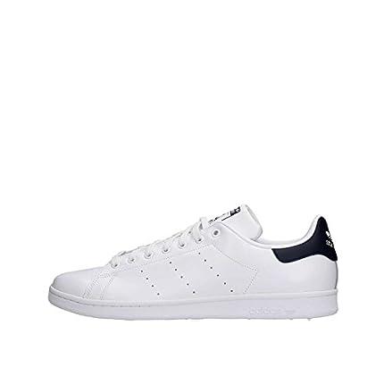 adidas Originals Stan Smith, Zapatillas Unisex Adulto, Blanco (Blanco Corriente/Azul Marino Nuevo), 43 1/3 EU