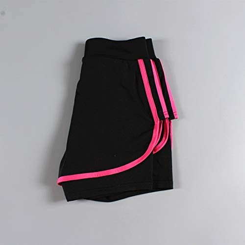 No-Branded WZGGZWGG Sport Jersey Frauen Gym Laufen Outdoor Shorts Jogging Trainings-Übungs-Fitness Female Short Large Size (Color : Solid Rose, Size : XXXL)