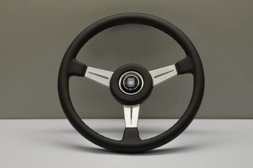 Nardi Steering Wheel Classic 365mm 14 37 inches Black Leather with Black Stitching Satin Spokes product image