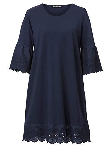 Sara Lindholm Kleid mit Stickerei Blau