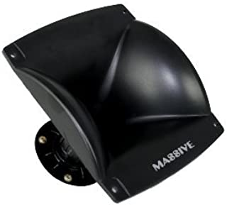 Massive Audio F3 - Flare Horn Pro Audio for Cars and DJ Compression Drivers, 60x 40, 1 Inch Screw On | Sold Individually
