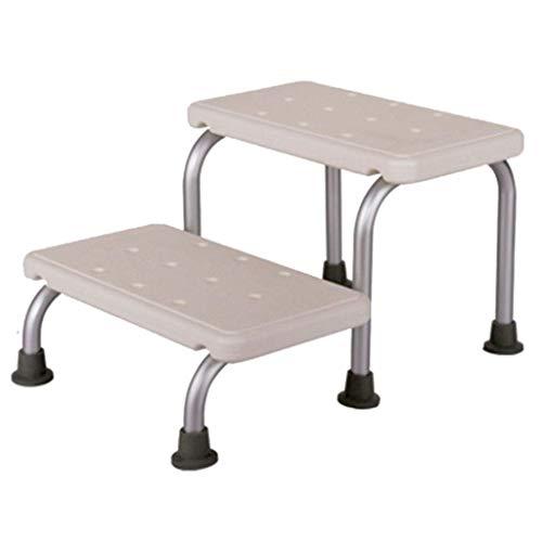 MRDAER Taburete de Ducha Alargado, Silla de baño de Altura Ajustable Herramientas médicas Escalera de fácil Montaje Asiento de baño Patas de Aluminio, Capacidad de Carga: 150 kg Blanco