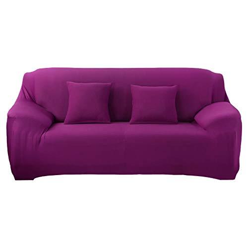 LJXJ Sofa cover 1/2/3/4 zitting, bank beschermhoes, woonkamer effen kleur sofa cover, elastische sofa cover, stretch sofa handdoek
