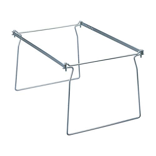 """Smead Steel Hanging File Folder Frame, Letter Size, Gray, Adjustable Length 23"""" to 27"""", 2 per Pack (64872)"""