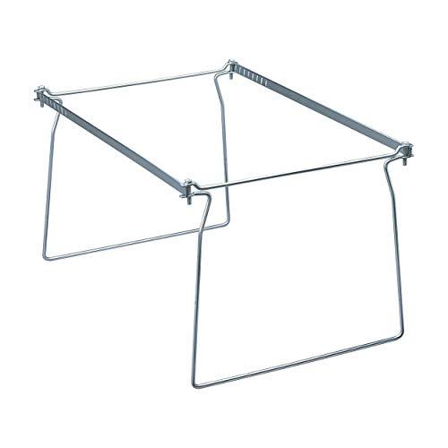 Smead Steel Hanging File Folder Frame, Letter Size, Gray, Adjustable Length 23